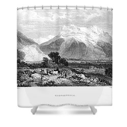 Switzerland: Grindenwald Shower Curtain by Granger