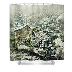 Switzerland In Winter Shower Curtain by Joana Kruse
