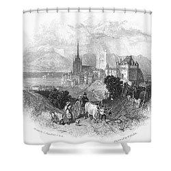 Switzerland: Lausanne Shower Curtain by Granger