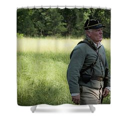 Sword At My Side Shower Curtain by Kim Henderson