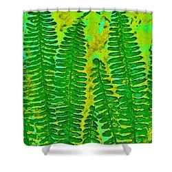 Sword Fern Fossil-green Shower Curtain