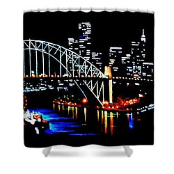 Sydney By Black Light Shower Curtain