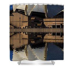 Sydney Opera House Abstract Shower Curtain by Avalon Fine Art Photography