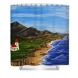 Sylvia's Seascape Shower Curtain