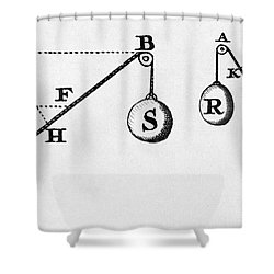 Symbol Language Of Statics Shower Curtain by Science Source