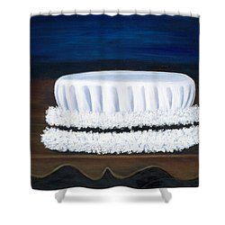 Shower Curtain featuring the painting Symbol Of A Proud Profession Iv by Marlyn Boyd