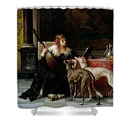 Sympathetic Friends Shower Curtain by Florent Willems