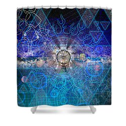 Synesthetic Dreamscape Shower Curtain by Kenneth Armand Johnson