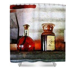 Syrup Of Rhubarb Shower Curtain by Susan Savad