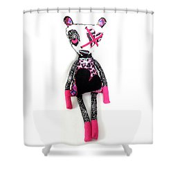 Tabitha The Zombie Babysitter  Shower Curtain by Oddball Art Co by Lizzy Love