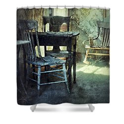 Table And Chairs Shower Curtain by Jill Battaglia