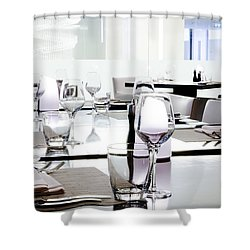 Table Setting Shower Curtain by Setsiri Silapasuwanchai