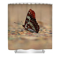 Shower Curtain featuring the photograph Taking A Breather by Patrick Witz