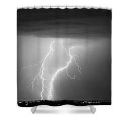 Taking It To The Ground Bw Shower Curtain by James BO  Insogna