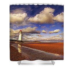 Talacre Lighthouse Shower Curtain