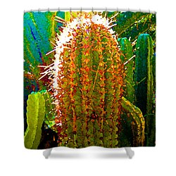 Tall Cactus Shower Curtain by Amy Vangsgard