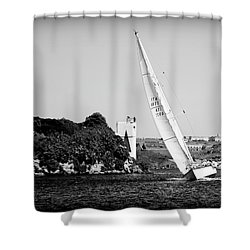 Shower Curtain featuring the photograph Tall Ship Race 1 by Pedro Cardona