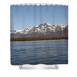 Tallac From The Lake Shower Curtain by LeeAnn McLaneGoetz McLaneGoetzStudioLLCcom