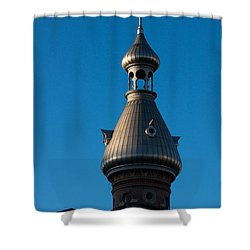 Shower Curtain featuring the photograph Tampa Bay Hotel Minaret by Ed Gleichman