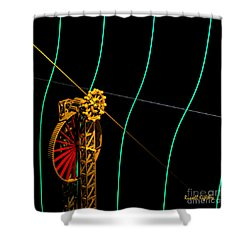 Tangent Graph Math Engine Shower Curtain