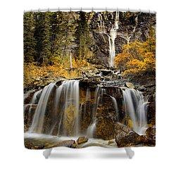Tangle Falls, Jasper National Park Shower Curtain by Keith Kapple