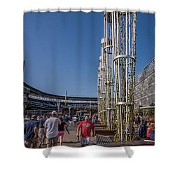 Shower Curtain featuring the photograph Target Plaza by Tom Gort