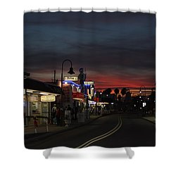 Shower Curtain featuring the photograph Tarpon Springs After Sundown by Ed Gleichman