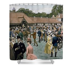 Tattersall's Newmarket Pub Shower Curtain by Isaac J Cullin and I P Mendoza