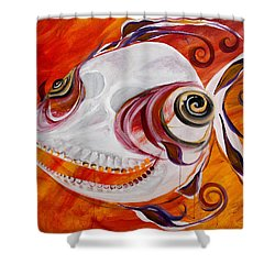 T.b. Chupacabra Fish Shower Curtain