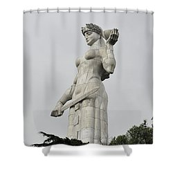 Tbilisi Mother Of Georgia Statue Shower Curtain by Amos Gal