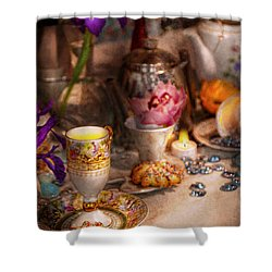 Tea Party - The Magic Of A Tea Party  Shower Curtain by Mike Savad