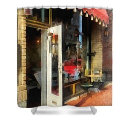 Tea Room In Sono Norwalk Ct Shower Curtain by Susan Savad