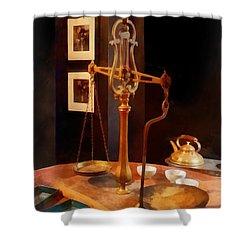 Tea Scale Shower Curtain by Susan Savad