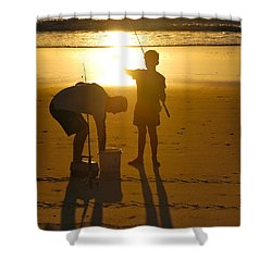 Shower Curtain featuring the photograph Teach A Man To Fish... by Eric Tressler