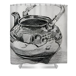 Teapot Reflections Shower Curtain