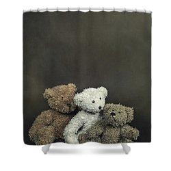 Teddy Bear Family Shower Curtain by Joana Kruse