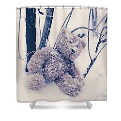 Teddy In Snow Shower Curtain by Joana Kruse