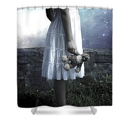 Teddy Shower Curtain by Joana Kruse