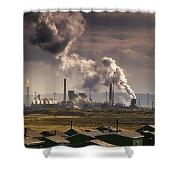 Teesside Refinery, England Shower Curtain by John Short
