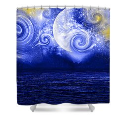 Tempestuous Night Shower Curtain by Lourry Legarde