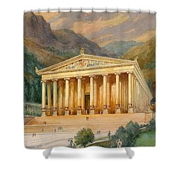 Temple Of Diana Shower Curtain by English School