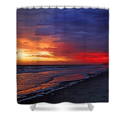 Ten Minutes On The Beach  Shower Curtain by Phill Doherty