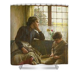 Tender Grace Of A Day That Is Dead Shower Curtain by Walter Langley