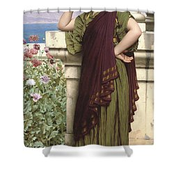 Tender Thoughts Shower Curtain by John William Godward