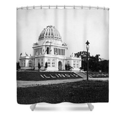 Tennessee Centennial In Nashville - Illinois Building - C 1897 Shower Curtain by International  Images