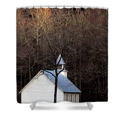 Tennessee Mountain Church Shower Curtain by Skip Willits