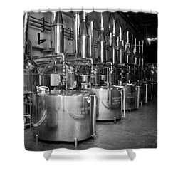 Shower Curtain featuring the photograph Tequilera S.s. Distillation Tanks by Lynn Palmer