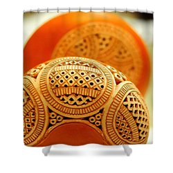 Terracotta Lampshade Shower Curtain
