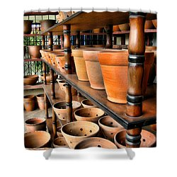 Terracotta Ranks Shower Curtain