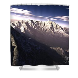 Terragen Render Of Kitt Peak, Arizona Shower Curtain by Rhys Taylor